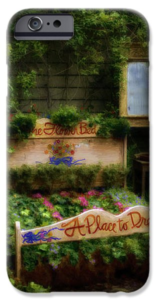 The Flower Bed A Place To Dream iPhone Case by LYNN ANDREWS