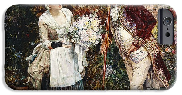 Vendor iPhone Cases - The Flower Girl iPhone Case by Henry Gillard Glindoni