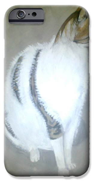 Village iPhone Cases - The Fluffy Cat- Picture iPhone Case by Zornitsa Tsvetkova