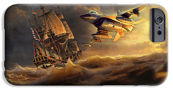 Wwi iPhone Cases - The Flying Dutchman Part One iPhone Case by Peter Van Stigt