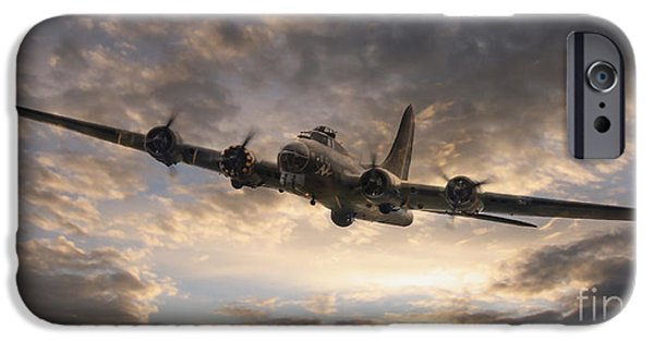 War iPhone Cases - The Flying Fortress iPhone Case by J Biggadike