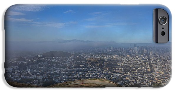 San Francisco Street iPhone Cases - The Fog Is Rolling In iPhone Case by Laurie Search