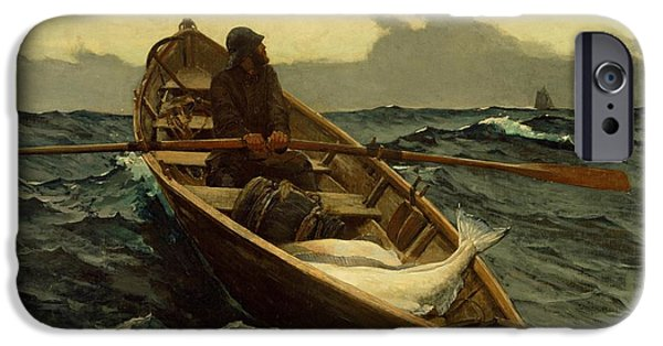 Recently Sold -  - Mist iPhone Cases - The Fog Warning Winslow Homer 1885 iPhone Case by Movie Poster Prints