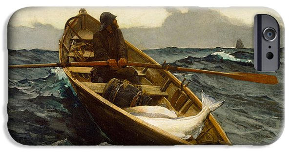 Winslow Homer iPhone Cases - The Fog Warning iPhone Case by Winslow Homer