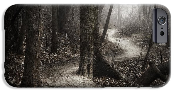 Fog Mist iPhone Cases - The Foggy Path iPhone Case by Scott Norris