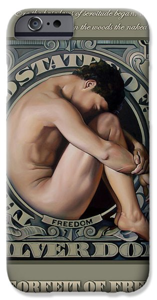 Politics iPhone Cases - THE FORFEIT OF FREEDOM A Nation in Mourning iPhone Case by Patrick Anthony Pierson