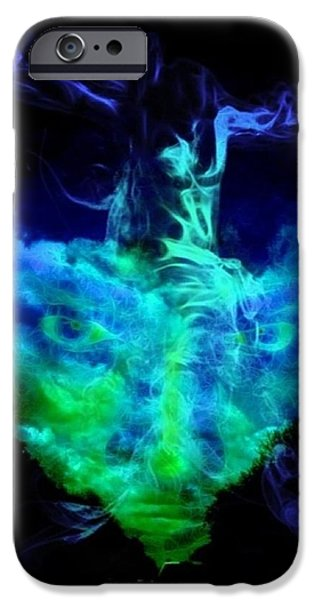 Angel Blues iPhone Cases - The Forgiving Power iPhone Case by Majula Warmoth