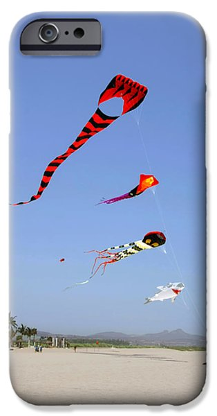 Kite iPhone Cases - The forgotten joy of soaring kites iPhone Case by Christine Till