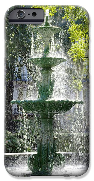 Savannah iPhone Cases - The Fountain iPhone Case by Mike McGlothlen