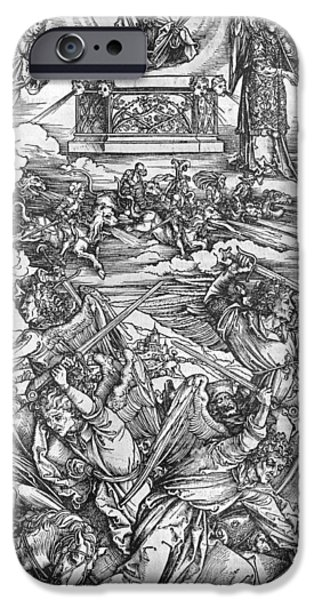 Posters From iPhone Cases - The Four Vengeful Angels iPhone Case by Albrecht Durer or Duerer