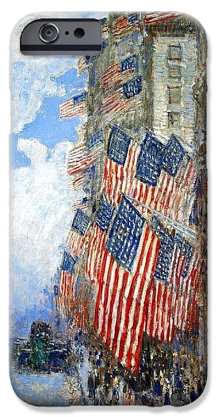 Hassam iPhone Cases - The Fourth Of July iPhone Case by Frederick Childe Hassam