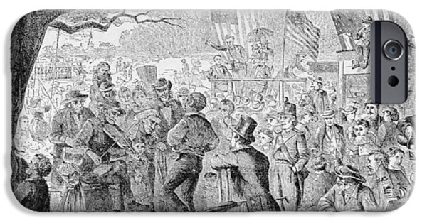 4th Photographs iPhone Cases - The Fourth Of July, Illustration From Harpers Weekly, 1867, From The Pageant Of America, Vol.3 iPhone Case by Charles J. Bush