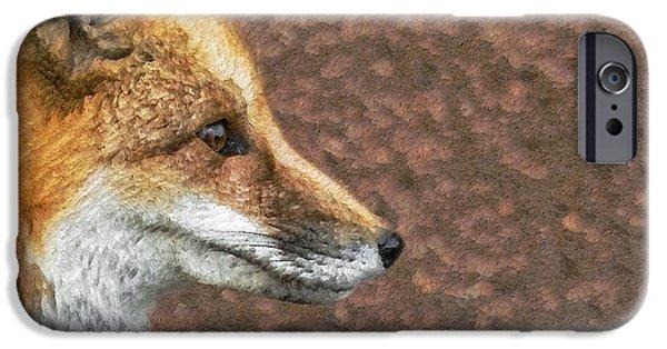 Fox Digital iPhone Cases - The Fox 2 iPhone Case by Ernie Echols