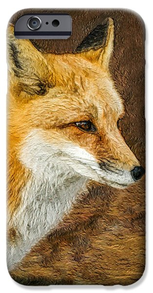 Fox Digital iPhone Cases - The Fox 5 iPhone Case by Ernie Echols