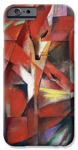Abstract Expressionism iPhone Cases - The Foxes iPhone Case by Franz Marc