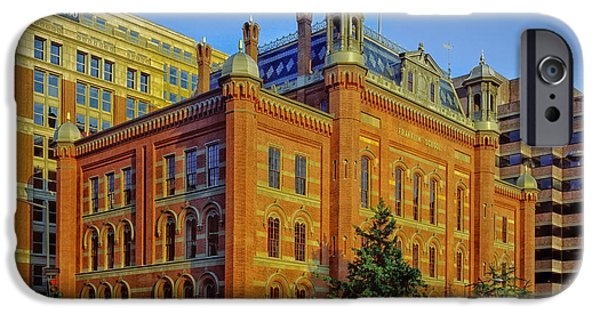 Historic Downtown Franklin iPhone Cases - The Franklin School - Washington DC iPhone Case by Mountain Dreams