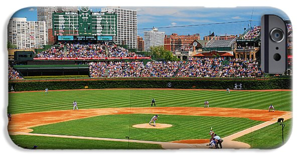 Wrigley iPhone Cases - The Friendly Confines iPhone Case by James Kirkikis