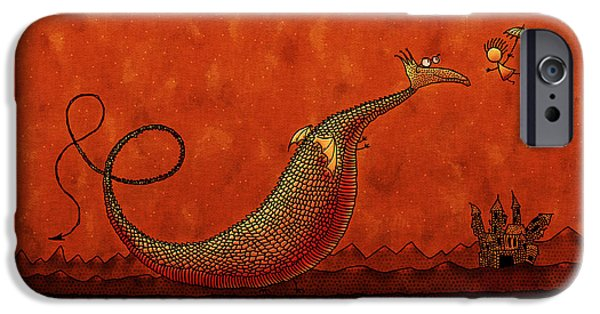 Animation iPhone Cases - The Friendly Dragon iPhone Case by Gianfranco Weiss
