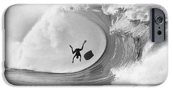 Big Waves iPhone Cases - The Frogman iPhone Case by Sean Davey