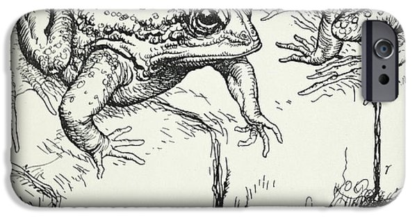 Fable iPhone Cases - The Frogs and the Well iPhone Case by Arthur Rackham