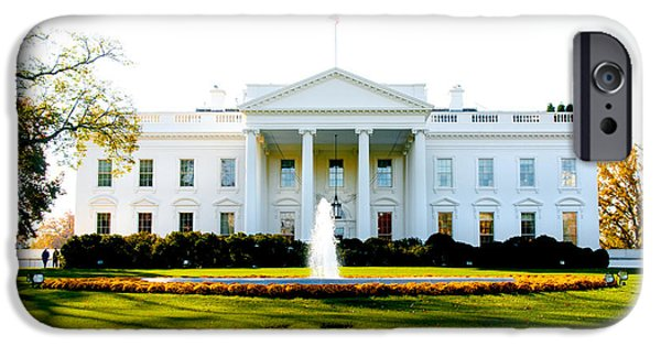 The White House Photographs iPhone Cases - The Front Door iPhone Case by Greg Fortier