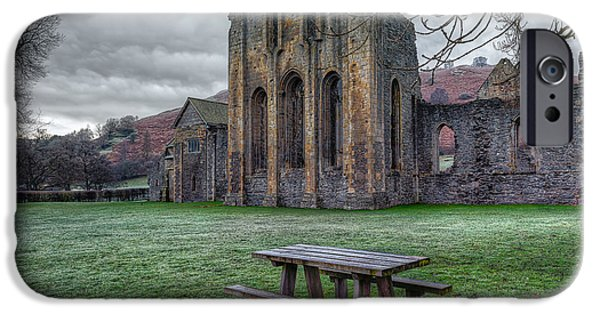 Ruins iPhone Cases - The Frosty Bench iPhone Case by Adrian Evans