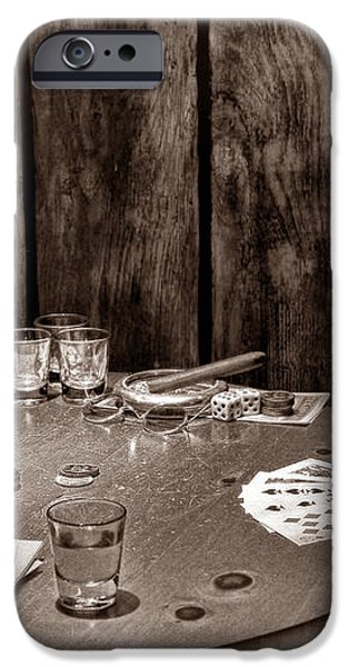 The Gambling Table iPhone Case by American West Legend By Olivier Le Queinec
