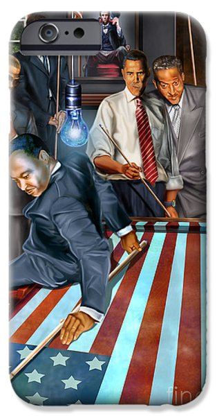 Obama iPhone Cases - The Game Changers and Table runners iPhone Case by Reggie Duffie