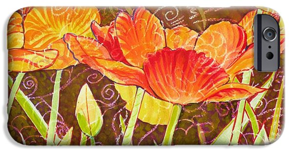 Nebraska Paintings iPhone Cases - The Garden Dance iPhone Case by Christine Belt