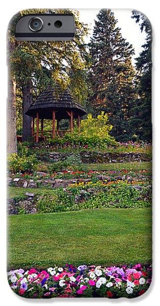 National Building Museum iPhone Cases - The Garden Gazebo iPhone Case by Maria Angelica Maira
