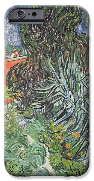 Van Gogh iPhone Cases - The Garden of Doctor Gachet at Auvers-sur-Oise iPhone Case by Vincent van Gogh