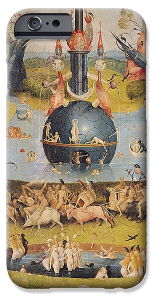 Pleasure iPhone Cases - The Garden Of Earthly Delights Allegory Of Luxury, Detail Of The Central Panel, C.1500 Oil On Panel iPhone Case by Hieronymus Bosch