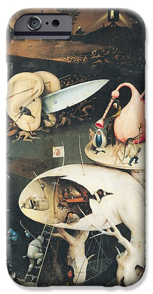 Ears iPhone Cases - The Garden Of Earthly Delights Hell, Right Wing Of Triptych, C.1500 Oil On Panel See 322, 3425 iPhone Case by Hieronymus Bosch