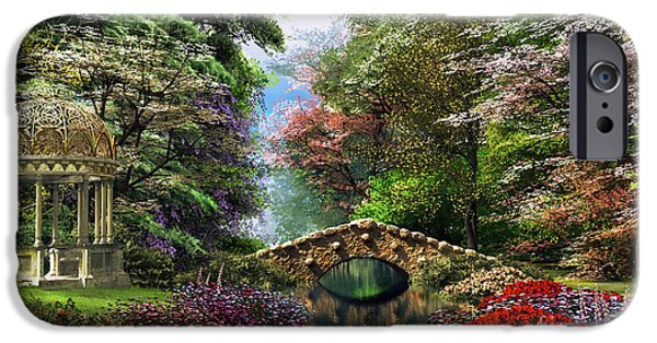 Stream Digital Art iPhone Cases - The Garden of Peace iPhone Case by Dominic Davison