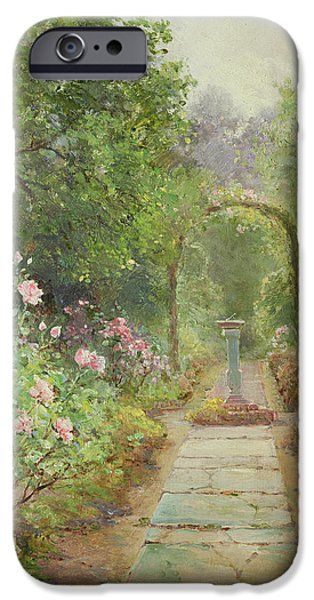 Pathway iPhone Cases - The Garden Path iPhone Case by Ernest Walbourn