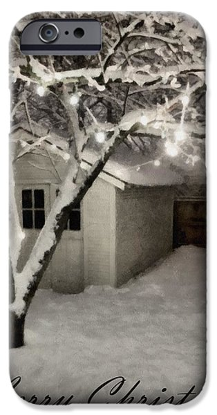 Snowy Night iPhone Cases - The Garden Sleeps iPhone Case by Michelle Calkins