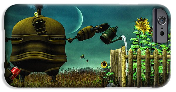 Collect Digital Art iPhone Cases - The Gardener iPhone Case by Bob Orsillo