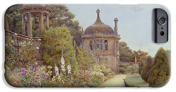 Flora Drawings iPhone Cases - The Gardens At Montacute in Somerset iPhone Case by Ernest Arthur Rowe