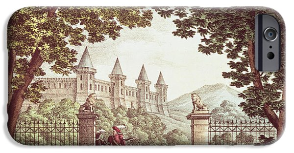Anne iPhone Cases - The Gardens Of Windsor Castle, Set Design For The Opera Anna Bolena, Engraved By Ricordi Engraving iPhone Case by Alessandro Sanquirico