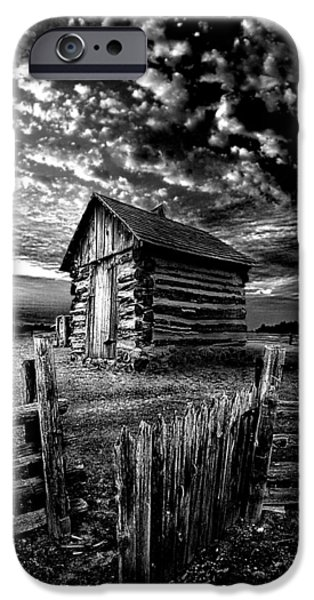 Cabin iPhone Cases - The Gate iPhone Case by Phil Koch