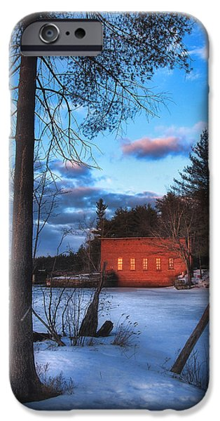 Snowy Day iPhone Cases - The Gatehouse iPhone Case by Joann Vitali