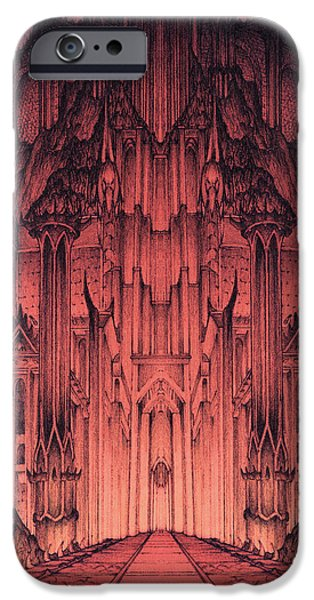 Jrr iPhone Cases - The Gates of Barad Dur iPhone Case by Curtiss Shaffer
