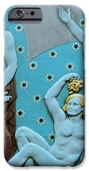 The GATHERING  Art Deco iPhone Case by Gunter  Hortz