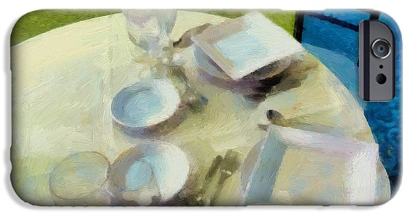 Table Wine iPhone Cases - The Geometry of the Table iPhone Case by RC DeWinter