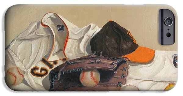 World Series Paintings iPhone Cases - The Giant Sleeps Tonight iPhone Case by Ryan Williams