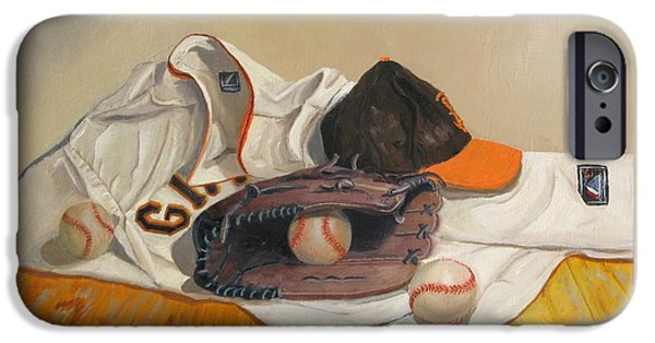Baseball Stadiums Paintings iPhone Cases - The Giant Sleeps Tonight iPhone Case by Ryan Williams