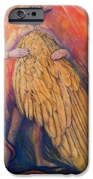 Mythology iPhone Cases - The Gift, 2013 Pastel iPhone Case by Silvia Pastore