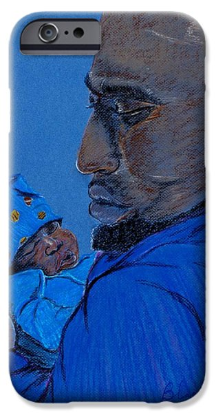 African-american Pastels iPhone Cases - The Gift iPhone Case by Charlie Black