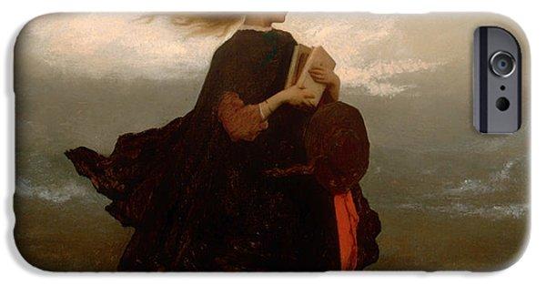 Dark Skies Paintings iPhone Cases - The Girl I Left Behind Me iPhone Case by Eastman Johnson
