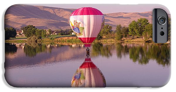 Hot Air Balloon iPhone Cases - The Girl Lands  iPhone Case by Jeff  Swan